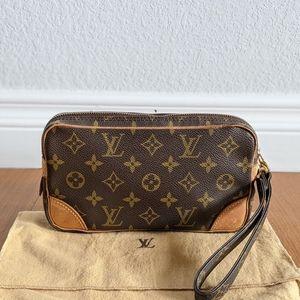 Authentic Louis Vuitton Monogram Marly clutch bag
